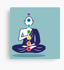 Chakra meditation yoga monk Canvas Print