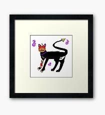 Candy Apple Cat Framed Print
