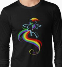 Flowing Rainbow Long Sleeve T-Shirt