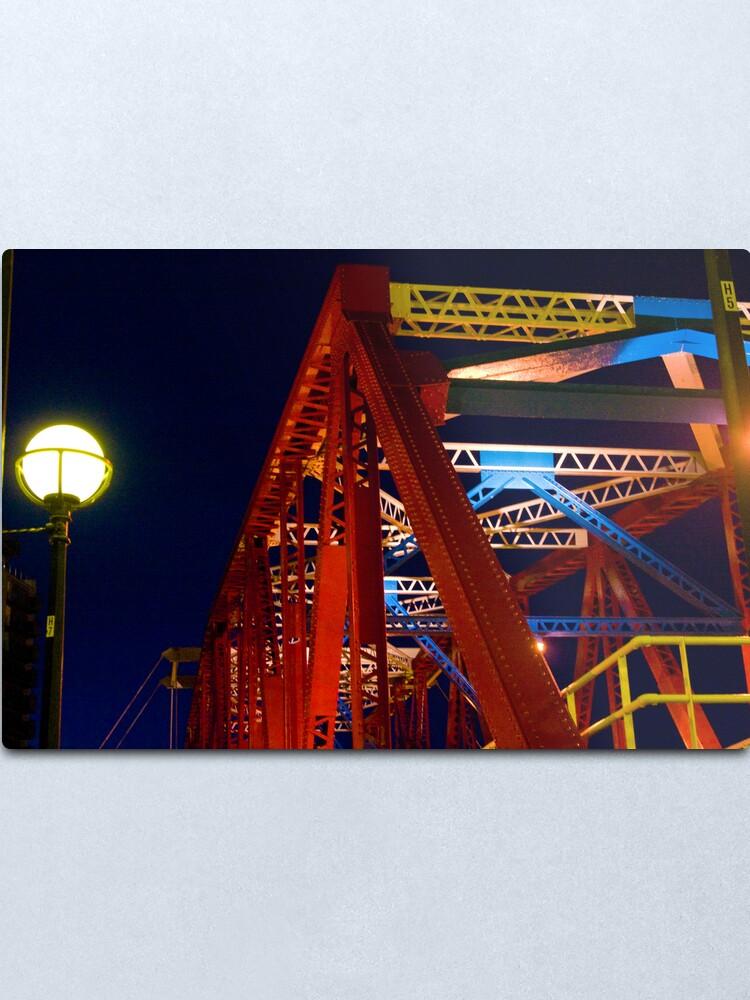 Alternate view of Modern Bridge Metal Print