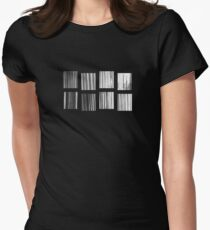 Fragments - B&W Halftone Womens Fitted T-Shirt