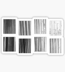 Fragments - B&W Halftone Sticker