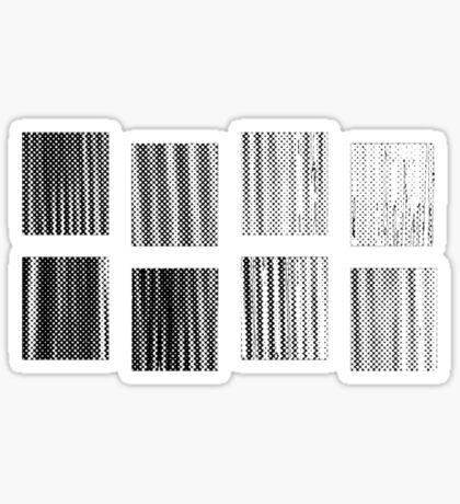 Fragments - B&W Halftone Sticker