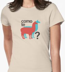 Como te llamas? Women's Fitted T-Shirt
