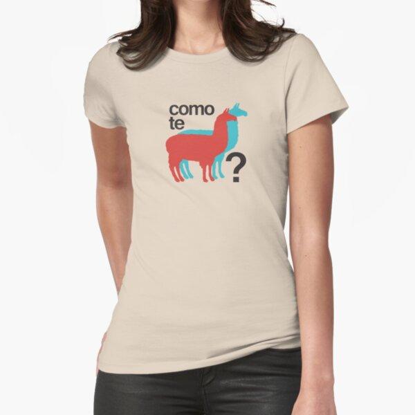 Como te llamas? Fitted T-Shirt