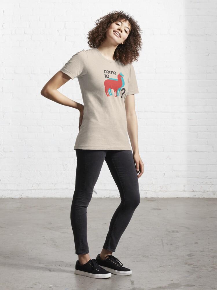 Alternate view of Como te llamas? Essential T-Shirt