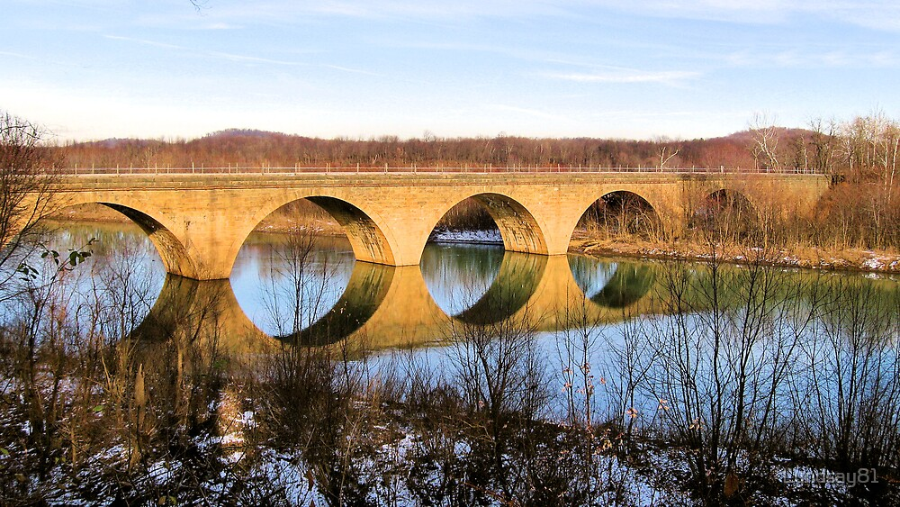 Reflections of a Bridge  by Lyndsay81