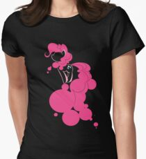 Bubbly Pink Women's Fitted T-Shirt