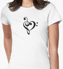 Love the music! Women's Fitted T-Shirt