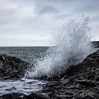the waves at Dyrhólaey by Rebecca Tun