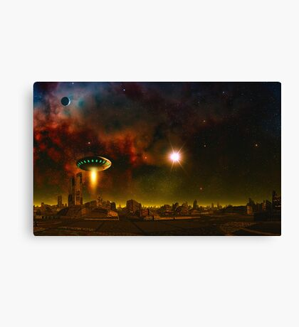 Space Pirates - First contact Canvas Print