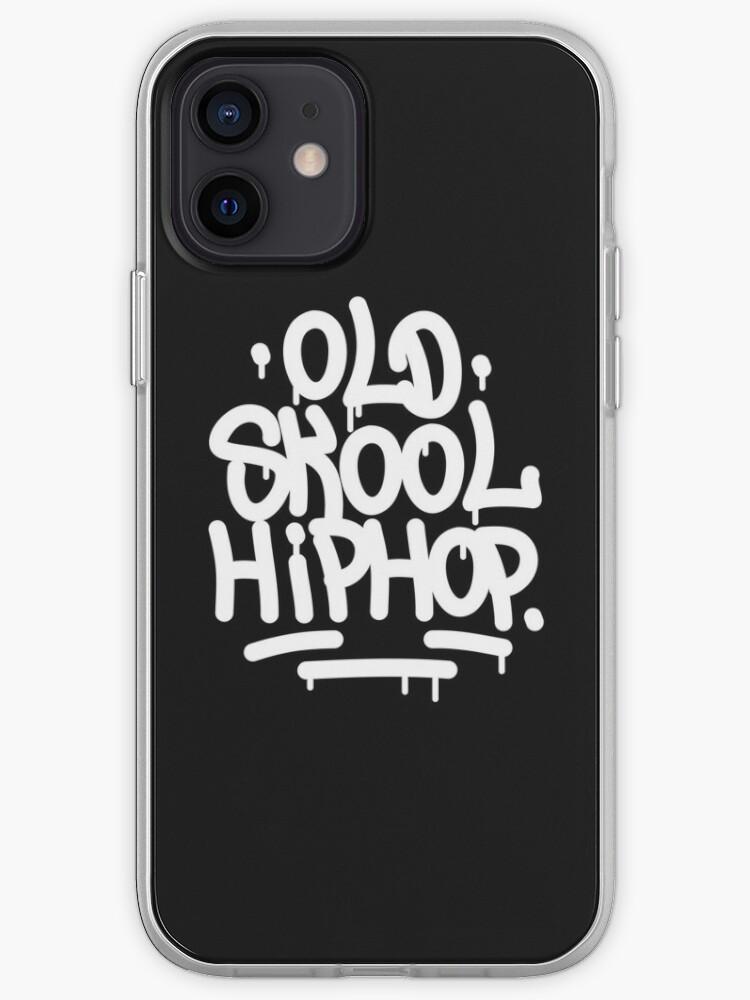 Vieille école Hip Hop Graffiti 90's Rap Design   Coque iPhone