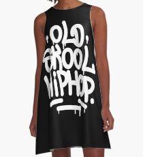 Old School Hip Hop Graffiti 90's Rap Design A-Line Dress
