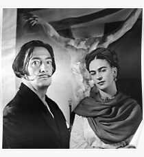 Dali & Frida Kahlo Poster