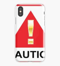 Red Caution Sign iPhone Case/Skin