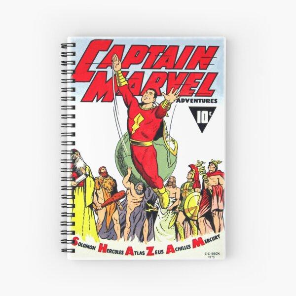 RETRO GOLDEN-AGE COMIC BOOK HERO, MAGIC WORD Spiral Notebook