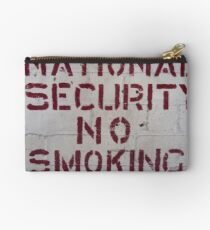 National Security No Smoking Studio Pouch