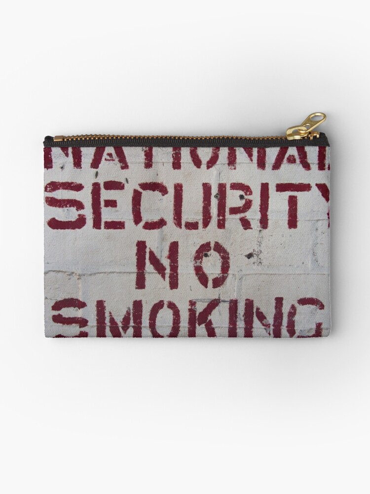 National Security No Smoking by Michael McGimpsey