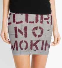 National Security No Smoking Mini Skirt