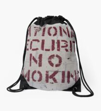 National Security No Smoking Drawstring Bag