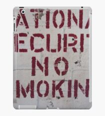 National Security No Smoking iPad Case/Skin