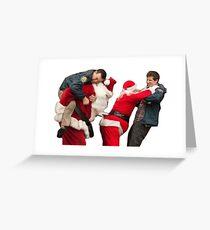 Xmas brawl  Greeting Card