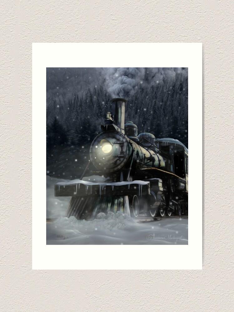 Alternate view of Steppeland Express Art Print