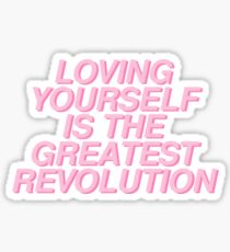 loving yourself is the greatest revolution Sticker