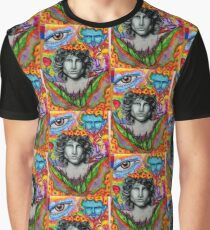 Music art shirt clock rock cases stickers wallet pillows psychedelic Graphic T-Shirt