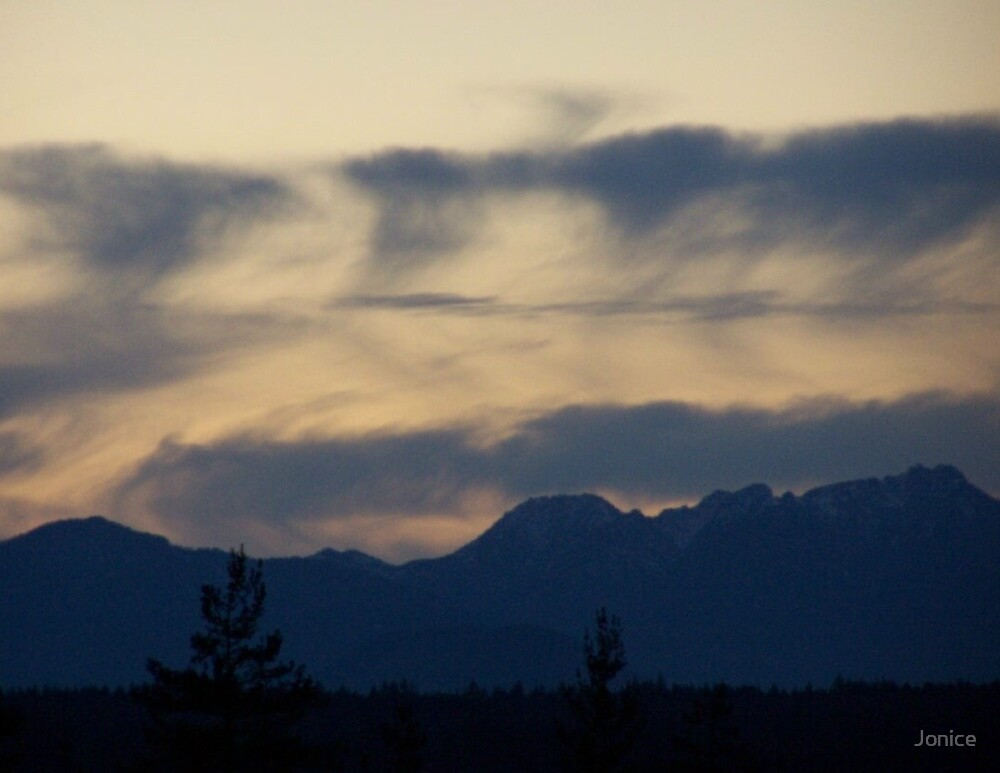 Abstract Across The Olympic Moutains by Jonice