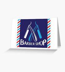 Barber Shop logo Greeting Card