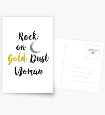Rock On Gold Dust Woman Postcards