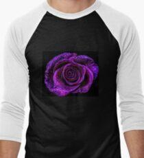 True purple rose with rain drops T-Shirt