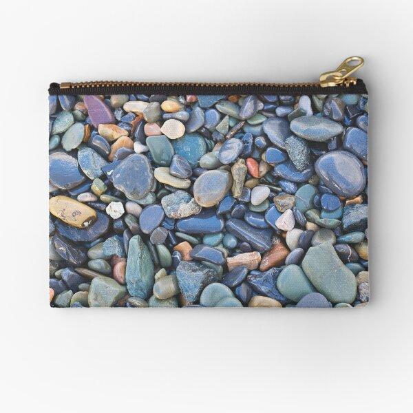 Wet Beach Stones Zipper Pouch