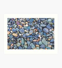 Wet Beach Stones Art Print
