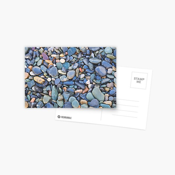 Wet Beach Stones Postcard
