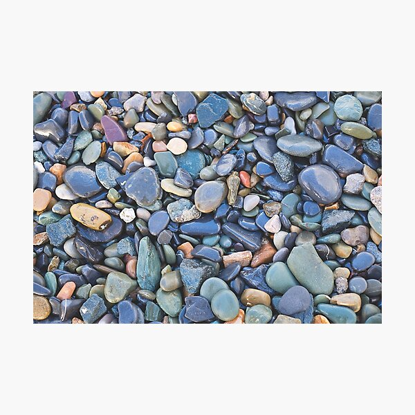 Wet Beach Stones Photographic Print