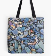 Wet Beach Stones Tote Bag