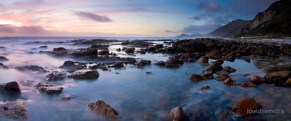 Misty Cliffs pano by louishiemstra