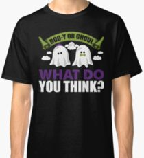 Boo-y Or Ghoul | Halloween Gender Reveal Classic T-Shirt
