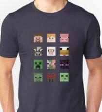 Minecraft Heads Unisex T-Shirt