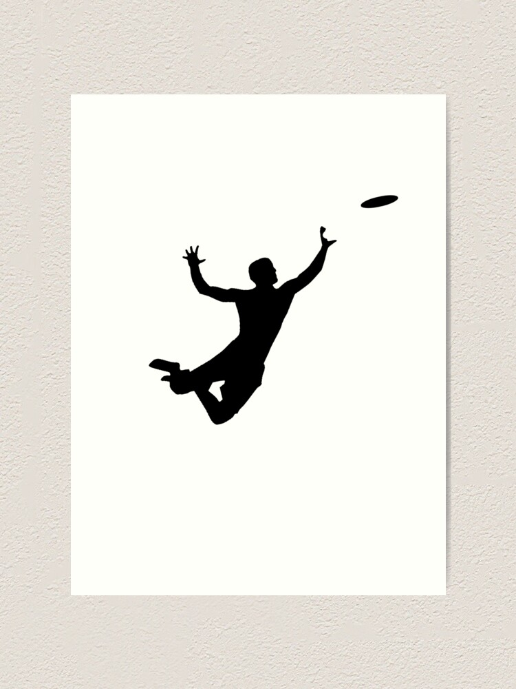 Quot Ultimate Frisbee Silhouette Frisbee Jumping Catch Quot Art
