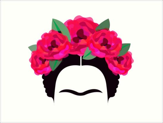 Imagenes De Frida Kahlom Para Colorear: Láminas Artísticas «Frida Kahlo Minimalista» De Edleon