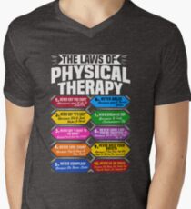 The Laws Of Physical Therapy Awesome Therapist Gift  Men's V-Neck T-Shirt