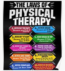Die Gesetze der Physiotherapie Fantastisches Therapeut-Geschenk Poster
