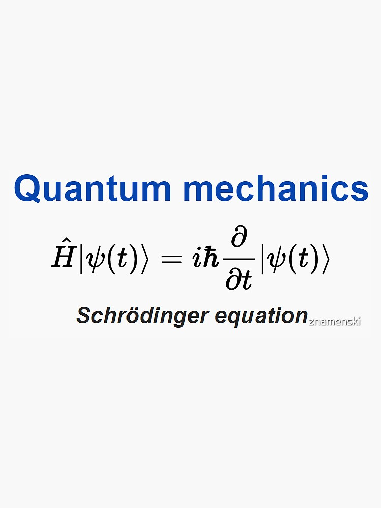 Schrödinger equation #Schrödinger #equation #Schrödingerequation by znamenski