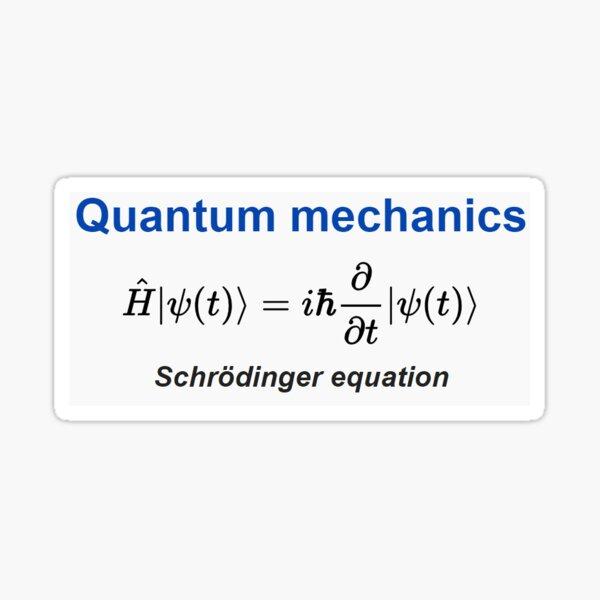 Schrödinger equation #Schrödinger #equation #Schrödingerequation Sticker