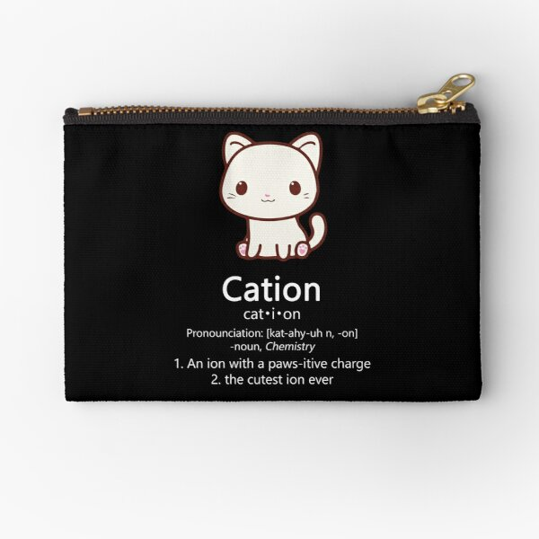 kitty zippered case makeup bag Purrfect cat naps back to school zippered pouch cat puns card pouch pencil case