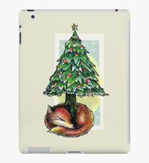 Christmas Fox Under the Christmas Tree iPad Case/Skin