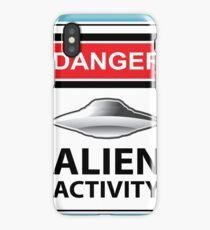 Danger Alien Activity Sign iPhone Case/Skin